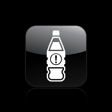 Vector illustration of single isolated dangerous bottle icon Stock Vector - 12121378