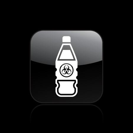Vector illustration of single isolated dangerous bottle icon Stock Vector - 12121395