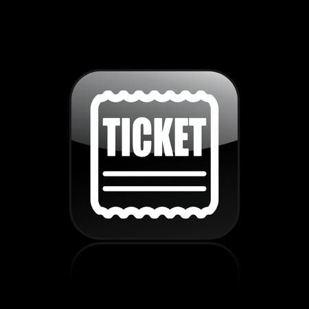 Vector illustration of single isolated tiket icon Stock fotó - 12129129