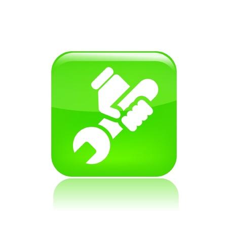 reparations: Ilustraci�n vectorial de un solo icono aislado bricolaje
