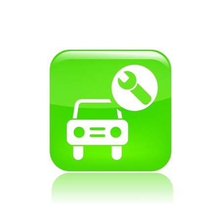 Vector illustration of single isolated car assistance icon  Stock Vector - 12121563