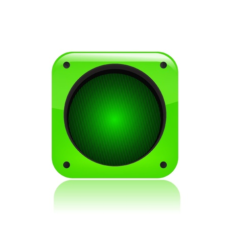 Vector illustration of single isolated green traffic light icon Stock Vector - 12121632