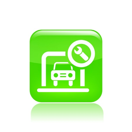 Vector illustration of single isolated car box icon  Stock Vector - 12121577