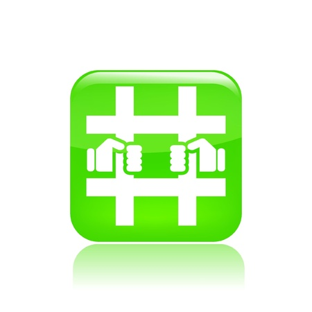 Vector illustration of single isolated prison icon  Stock Vector - 12121607
