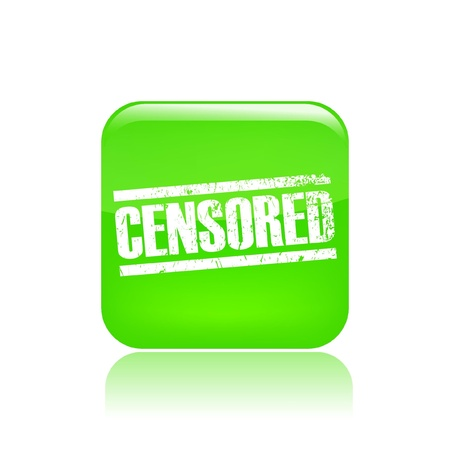 censored: Vector illustration of single isolated censored icon