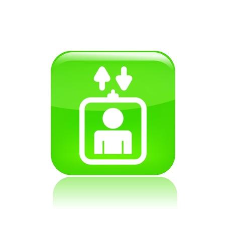 domicile: Vector illustration of single isolated elevator icon