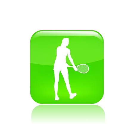 Vector illustration of single isolated tennis icon  Vector