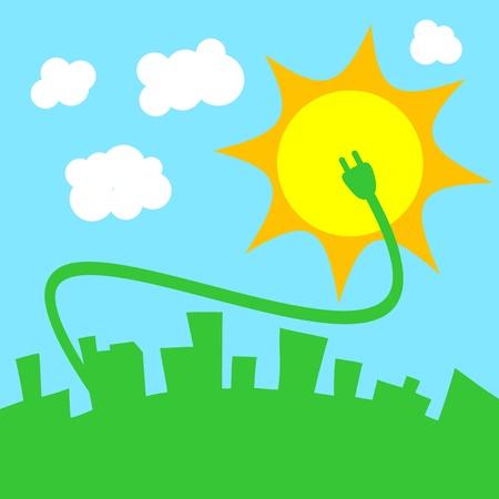 accumulation: Vector illustration of green power concept design
