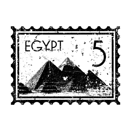 Vector illustration of single isolated Egypt print icon  Vector