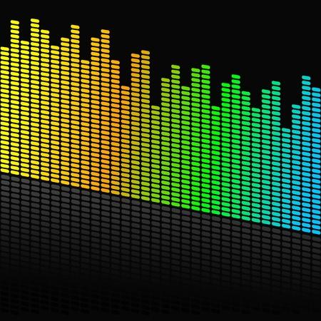 equaliser: Vector illustration of single isolated audio design
