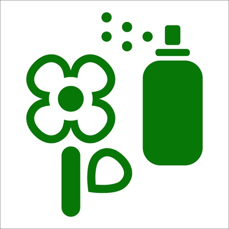 herbicide: Vector illustration of single isolated flower icon