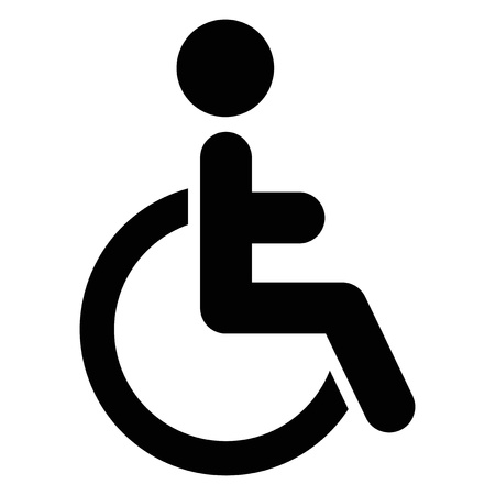 disable: Vector illustration of single isolated handicap icon  Illustration