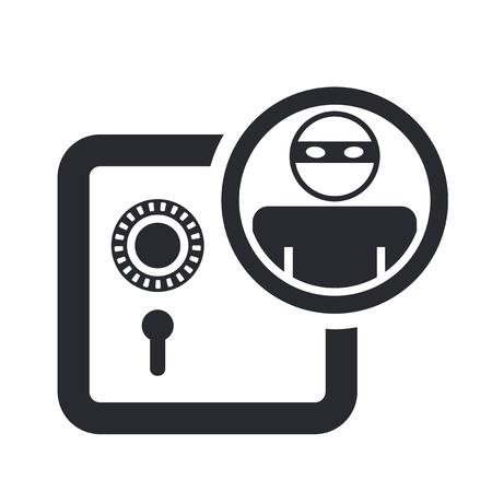 Vektor illustration av enstaka isolerade banktjuv ikon