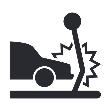 traffic pole: Vector illustration of single isolated car crash icon