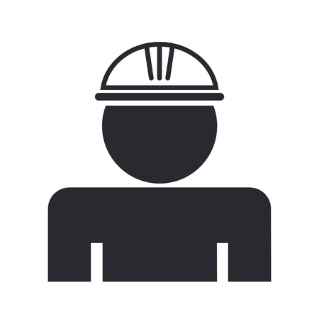 insure: Vector illustration of single isolated worker icon