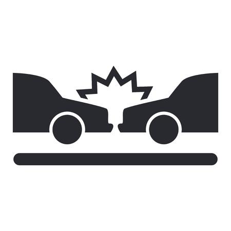 Ilustracja wektorowa pojedynczego izolowanego ikony wypadku samochodowym Ilustracje wektorowe