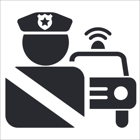 Vector Illustration der einzelnen isolierten Polizei Symbol Vektorgrafik