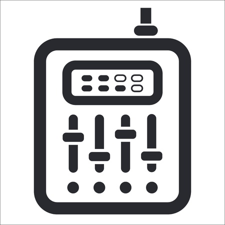 potentiometer: Vector illustration of single isolated mixer icon