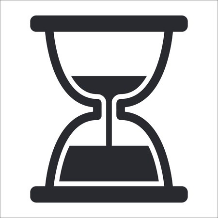 Vector illustration of single isolated hourglass icon