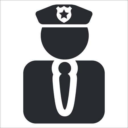 icono policia: Ilustraci�n vectorial de la polic�a solo icono aislado Vectores