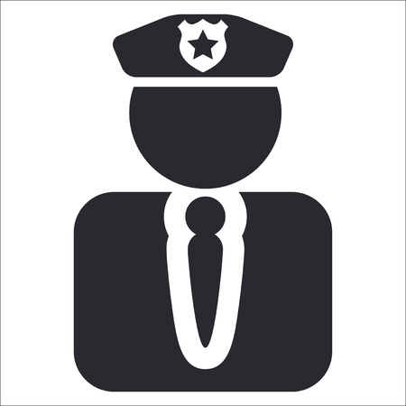 police icon: Vector illustration of single isolated police icon