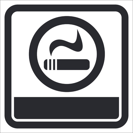 smokers: Vector illustration of single isolated smokers area icon