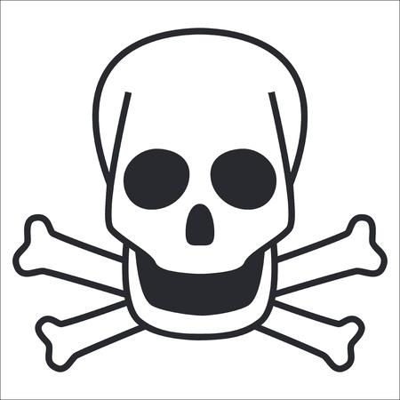 skull icon: Vector illustration of single isolated skull icon