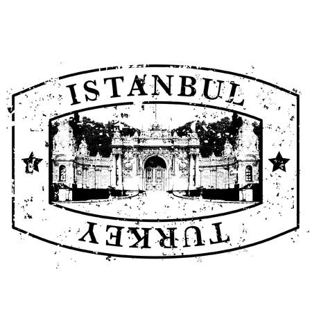turkey istanbul: Illustrazione vettoriale di icona unico isolato Istanbul Vettoriali