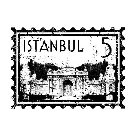 Vector illustration of single isolated Istanbul icon  Illustration