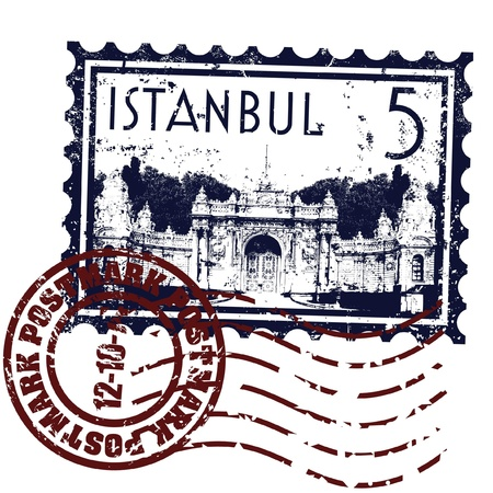 turkey istanbul: Vector illustration of single isolated Istanbul icon  Illustration