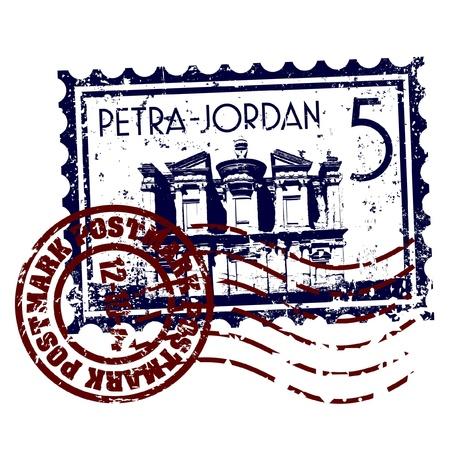 jordanian: Vector illustratie van enkele geïsoleerde Jordanië pictogram