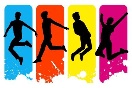 楽観: 1 つの孤立した幸せな人々 アイコンのベクトル イラスト  イラスト・ベクター素材