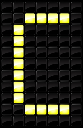 Vector illustration of single isolated scoreboard letter icon Stock Vector - 12121446
