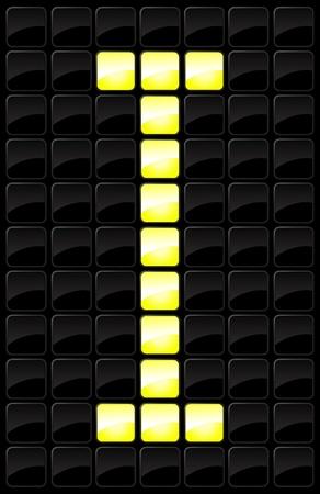 Vector illustration of single isolated scoreboard letter icon