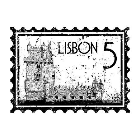 Vector illustration of single isolated Lisbon icon  Stock Vector - 12130505