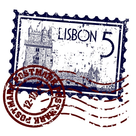 Vector illustration of single isolated Lisbon icon