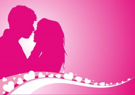 lovers kissing: Vector illustration of lovers background