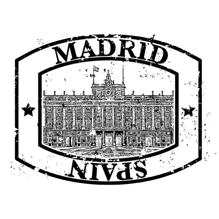 Vector illustration of single isolated madrid icon  Vector