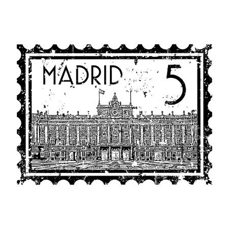 madrid: Vector illustration of single isolated madrid icon  Illustration