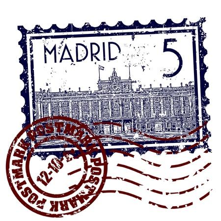 Vector illustration of single isolated madrid icon  Illustration