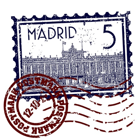 Vector illustration of single isolated madrid icon  Illustration