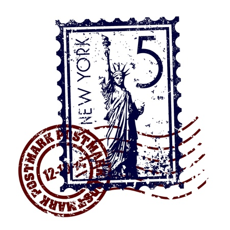 Vector illustration of single isolated New York icon  Vectores