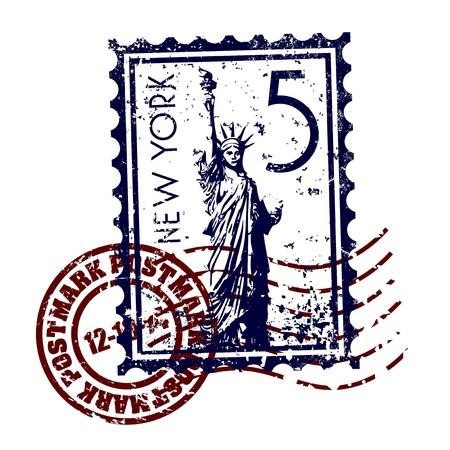 Vector illustration of single isolated New York icon  Stock Illustratie