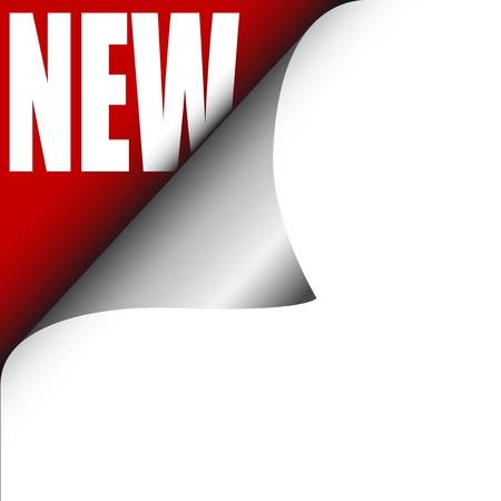 Vector illustration of single isolated new icon  Illustration