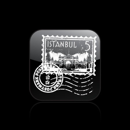 Vector illustration of single isolated Istanbul icon  Stock Vector - 12130678