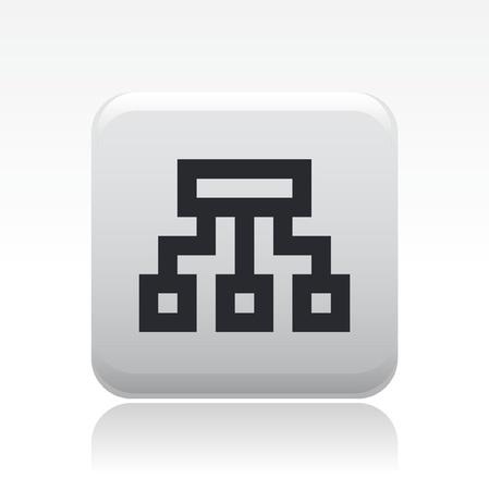 Vector illustration de l'icône de pixel isolé