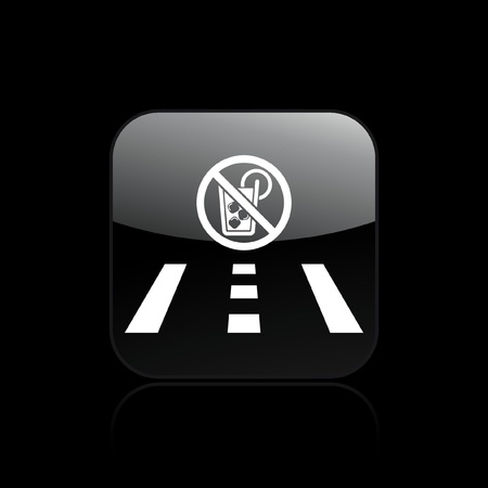 drunk driving: Vector illustration of single isolated drunk drive icon