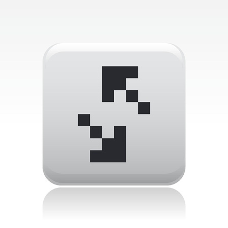 Vector illustration of single isolated pixel icon  Ilustrace