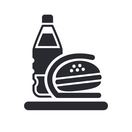 Vector illustratie van enkele geïsoleerde fast-food-pictogram