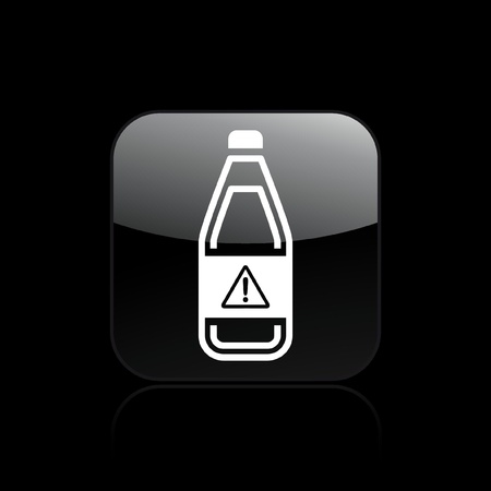 Vector illustration of single isolated dangerous bottle icon  Stock Vector - 12128905